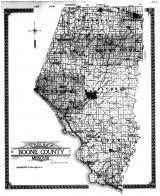 Boone County Outline Map, Boone County 1917